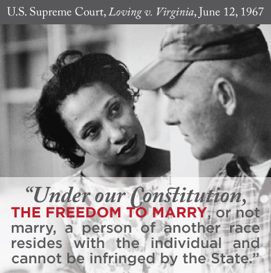 Mark this on your calendar - Us Supreme Court, Loving vs Virginia, June 12, 1967
