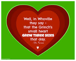 How the Grinch heart grew 3 sizes
