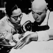 Dr. Gogol w/ assistant in Surgery