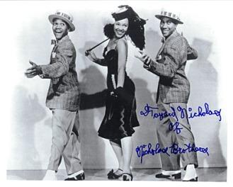 Harold Nicholas, Dorothy Dandridge and Fayard Nicholas