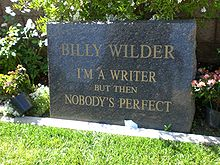 "Billy Wilder""s grave"