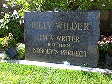 """Billy Wilder""""s grave"""
