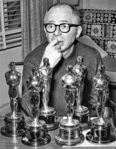Billy Wilder with Oscars