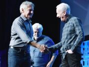 Ford, Lucas, Anthony Daniels C3PO