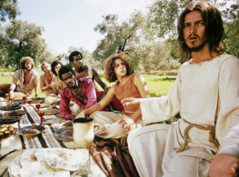 JESUS CHRIST SUPERSTAR, far right: Ted Neeley, third from right: Carl Anderson, 1973.